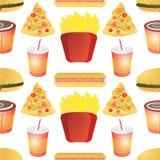 Fast food tile Stock Photo
