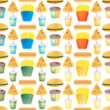 Fast food tile multi Stock Image