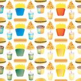 Fast food tile multi Stock Image