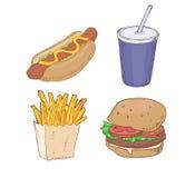 Fast food tirado Fotografia de Stock Royalty Free