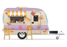 Fast food trailer vector illustration Royalty Free Stock Photography