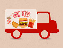 Fast food truck Royalty Free Stock Image