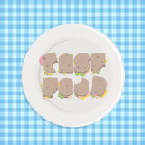 Fast food typography Stock Images
