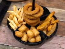 Fast food and unhealthy eating concept royalty free stock photos