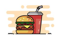 Fast Food Vector. Icon on white background Royalty Free Stock Photo