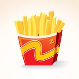 Fast Food Vector Icon. French Fries Potato Bucket. Royalty Free Stock Photo