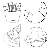 Fast food. Vector illustration. Royalty Free Stock Photos