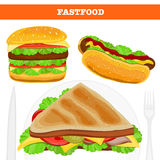 Fast food vector illustration Royalty Free Stock Photos
