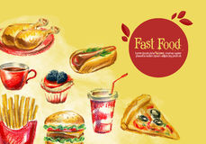 Fast food vector logo design template. burger Stock Photo