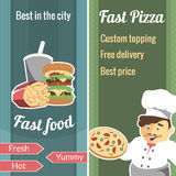 Fast food vector vertical banner set Stock Image
