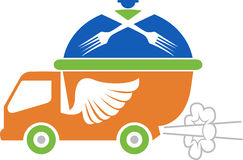 Fast food vehicle logo Royalty Free Stock Images