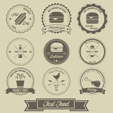 Fast Food Vintage Label Royalty Free Stock Images