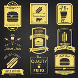 Fast Food Vintage Label Royalty Free Stock Photos