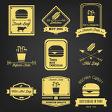 Fast Food Vintage Label Royalty Free Stock Image