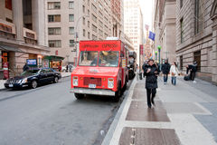 Fast food on Wall Street, NY Stock Photos