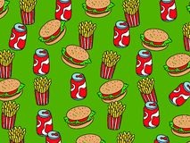 Fast food wallpaper Royalty Free Stock Photography