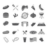 fast food web icons set flat design Royalty Free Stock Images