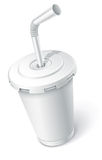 Fast food white cup vector illustration