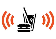 Fast food with Wi-Fi Royalty Free Stock Image