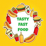 Fast food wreath new Royalty Free Stock Photo