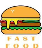 Fast food - Yumburger so delecious Royalty Free Stock Image