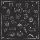 Fast Foods draw 25 Item Stock Images