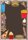 Fast Foods Frame_eps royalty free illustration