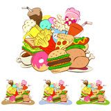 Fast foods icon set Royalty Free Stock Images