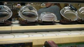 Fast forward Conveyor Belt in Sushi Restaurant in Japan stock video footage