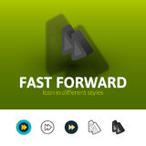 Fast forward icon in different style Stock Photo