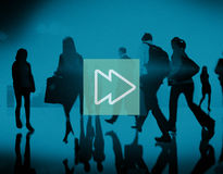 Fast Forward Multimedia Music Audio Concept Stock Photos