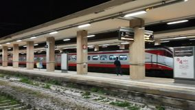 Fast Frecciargento train arriving at the Benevento station