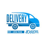 Fast and free delivery emblem. Stock Image