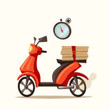 Fast and free delivery. Vector cartoon illustration. Stock Images