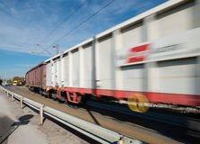 Fast freight train Royalty Free Stock Photo