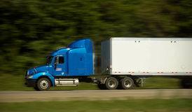 Fast Freight Truck on Highway Royalty Free Stock Image