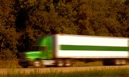 Fast Freight Trucking Stock Photo