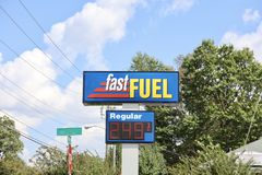 Fast Fuel Gas Station Stock Photo