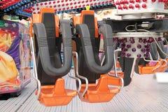 Fast Fun Fair Amusement Ride. Royalty Free Stock Photo