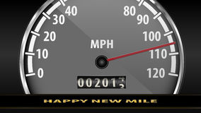 Fast and furious to the New Year Royalty Free Stock Photo