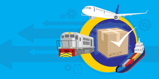 Fast and guaranteed shipment Royalty Free Stock Images