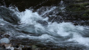 Fast Gushing Water Flowing from Waterfall over Rocks and Boulders Movie 1080p stock video