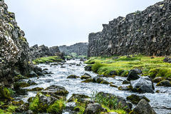 Fast icelandic stream Royalty Free Stock Images