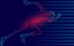 Fast impetuous running sportsman. Man run high speed sport achievement. Silhouette sprinter background. Design runner dark blue ve. Fast impetuous running Royalty Free Stock Image