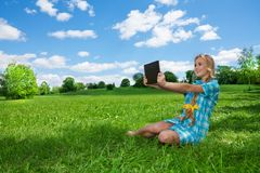 Fast internet on the countryside Royalty Free Stock Images