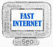 Fast Internet Indicates High Speed And Computers Stock Photography