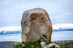 Fast isländsk natur Royaltyfria Foton