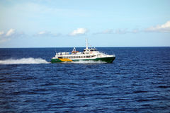 A fast island ferry in the caribbean Royalty Free Stock Photos