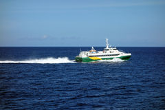 A fast island ferry in the caribbean Stock Photography