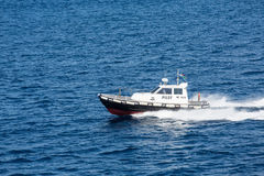Fast Italian Pilot Boat Stock Photos